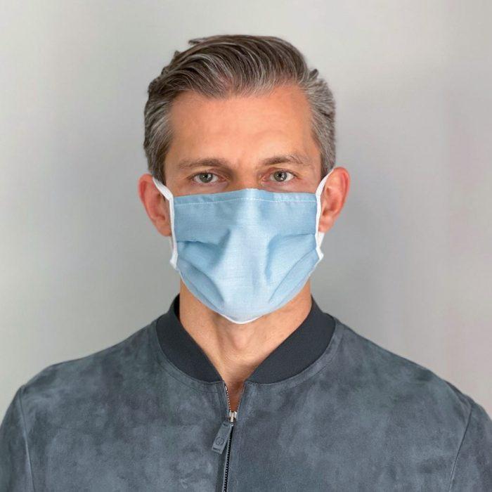 Mundschutz Maske Uni grün für Männer