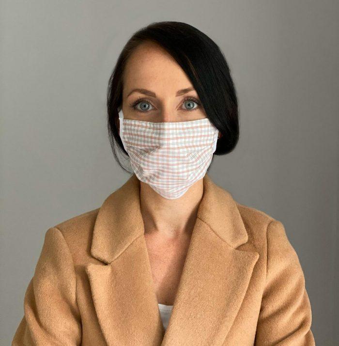 Mundschutz Maske Kariert für Frauen