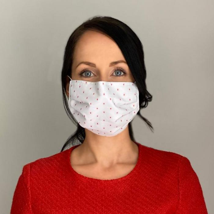Mundschutz Maske Pünktchen Frauen Waschbar