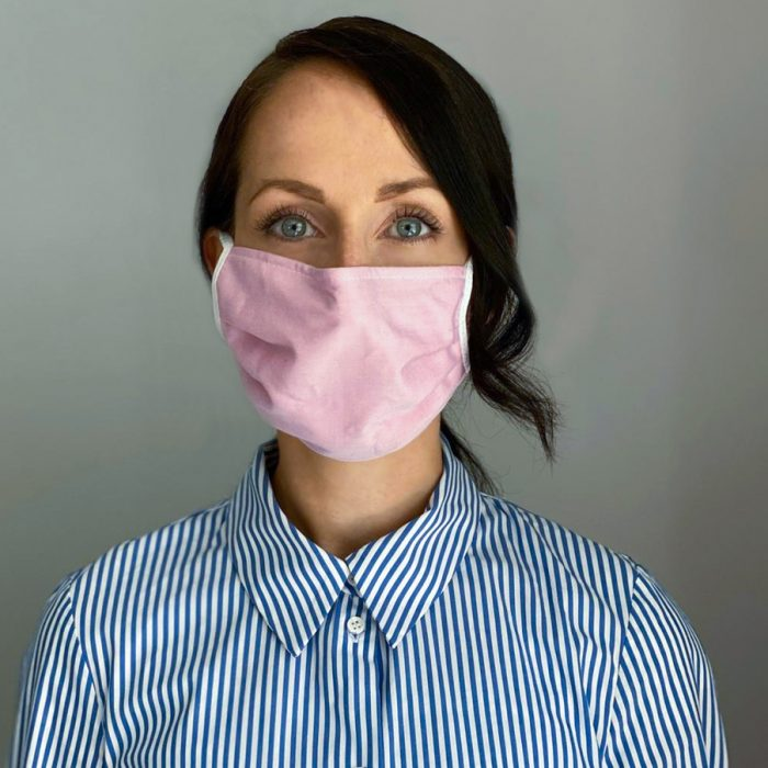 Mundschutz Maske Uni rosa für Frauen