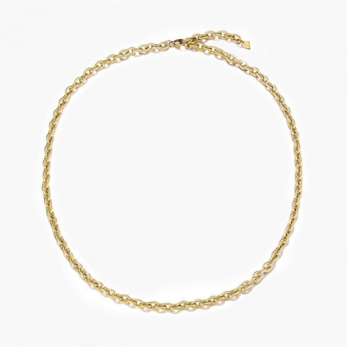 Kette Glieder Kordel Spirale gold